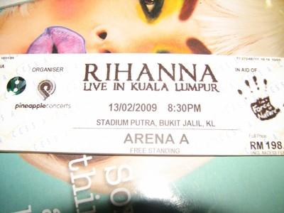 Rihanna Concert Ticket