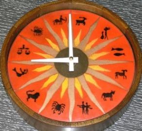 vintage zodiac clock